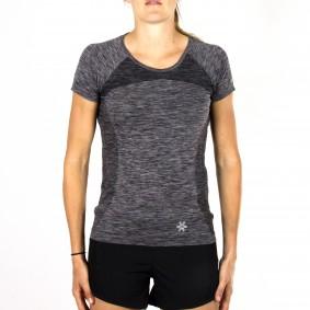 Hockey clothes - Osaka clothes - kopen - Osaka Tech Knit Short Sleeve Tee Women – Black Melange