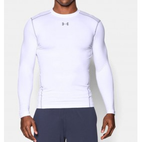 Hockey clothes - Thermo clothes - kopen - Under Armour ColdGear Armour Compression Crew – White