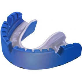 """Mouthguards - Protection - kopen - Opro Ortho Gold blue """"for the use with braces!"""""""