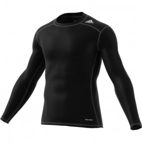 Hockey clothes - Thermo clothes - kopen - Adidas Tech Fit Base Long Sleeve Tee men black