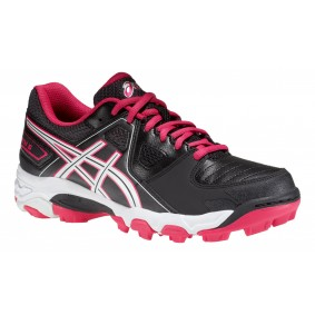 Asics shoes - Fieldhockey outlet - Hockey shoes - Junior hockey shoes - kopen - Asics Gel-Blackheath 5 GS Junior black/pink (SALE)