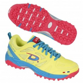 "Dita shoes - Fieldhockey outlet - Hockey shoes - Junior hockey shoes - kopen - Dita Callisto ""Diva"" yellow/pink/lightblue (SALE)"