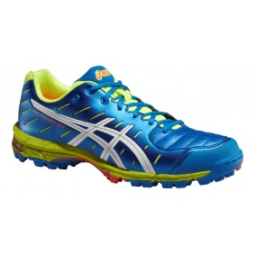 Asics shoes - Fieldhockey outlet - Hockey shoes - kopen - Asics Gel-Hockey Neo 3 blue/white/yellow (SALE)