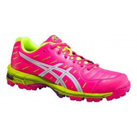 Asics shoes - Fieldhockey outlet - Hockey shoes - kopen - Asics Gel-Hockey Neo 3 W pink/white/yellow (SALE)