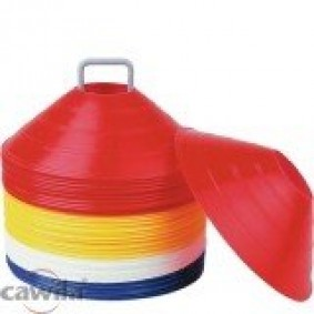 Hockey accesories - Referee, coach and trainer - kopen - Package soft cones 50 pieces on a holder