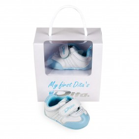 "Gifts and gadgets - Hockey accesories - kopen - Dita Babyshoes ""My First Dita's"" Lightblue"