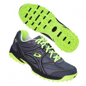 Dita shoes - Fieldhockey outlet - Hockey shoes - kopen - Dita Comfort Senior men grey/Lime/black (SALE)
