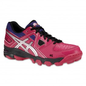 Asics shoes - Fieldhockey outlet - Hockey shoes - kopen - Asics Gel-Blackheath 5 Senior women pink/purple (SALE)