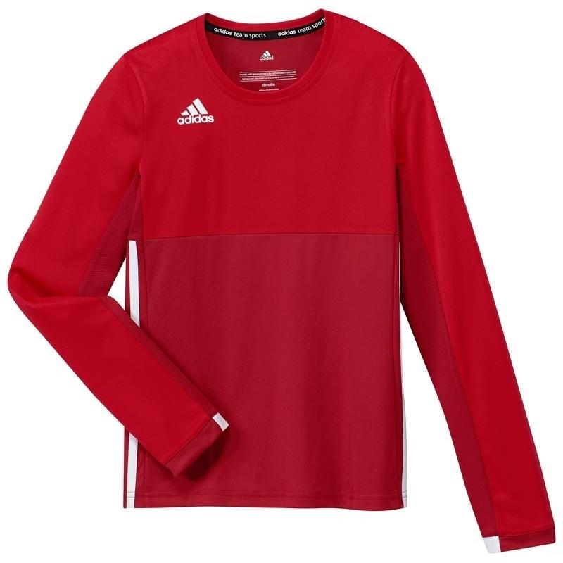 cheap for discount 96191 c2519 Adidas T16 Climacool Long Sleeve Tee youth girls Red