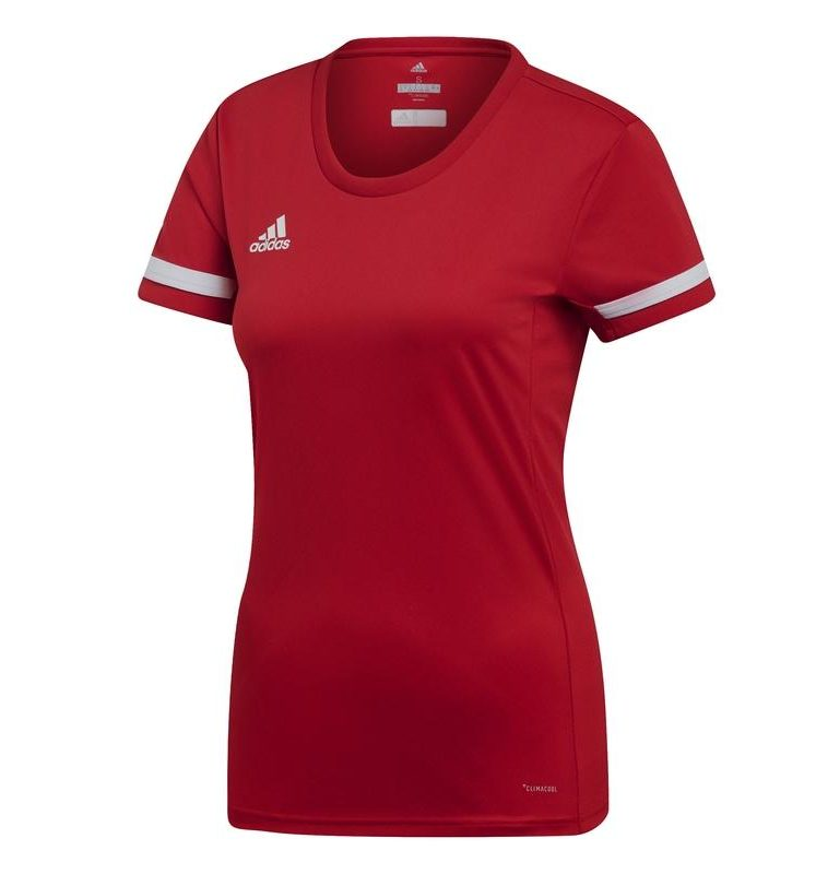 Adidas T19 Short Sleeve Tee women red | Deliverable from 01-08-2019!. Normal price: 30.95. Our saleprice: 26.55