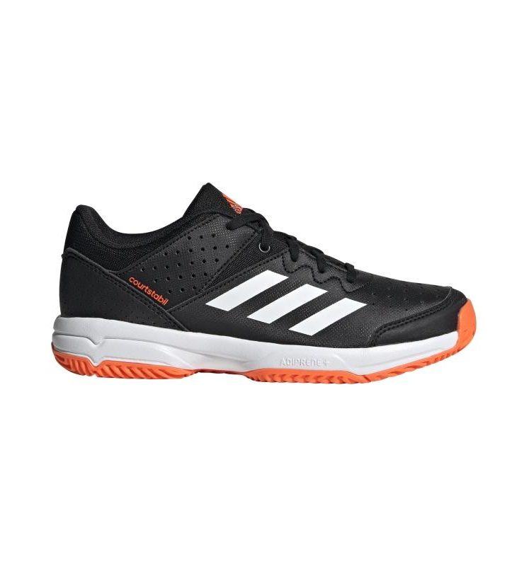 Adidas COURT STABIL Jr black/white/orange 2019-2020. Normal price: 48.65. Our saleprice: 41.35